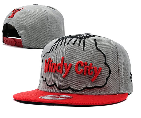 Chicago Bulls Snapback Hat SD 8512